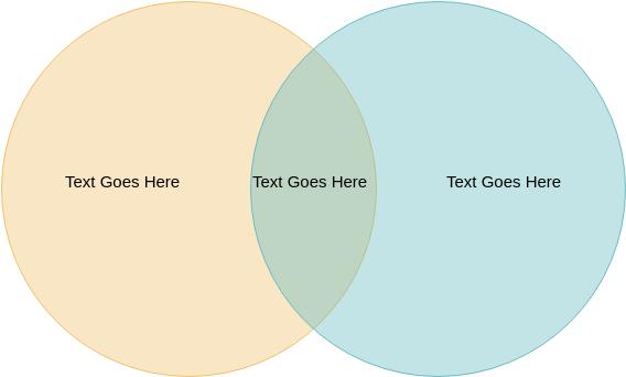 Venn Diagram template: 2-Circle (Created by Diagrams's Venn Diagram maker)