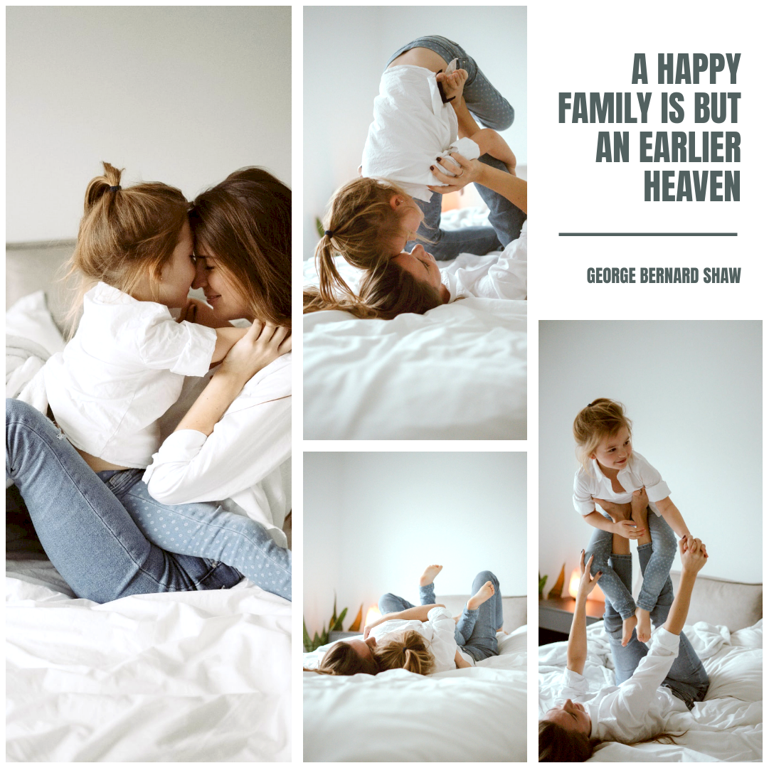 Photo Collage template: A Happy Family Photo Collage (Created by Collage's Photo Collage maker)