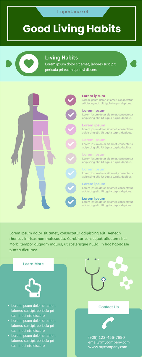 Infographic template: Living Habits Infographic (Created by InfoART's Infographic maker)