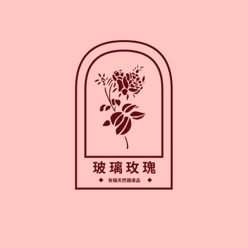 Logo template: 玫瑰主題有機天然護膚品標誌 (Created by InfoART's Logo maker)