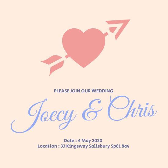 Joecy Chris Wedding Invitation
