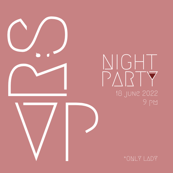 Invitation template: Lady Night Invitation (Created by InfoART's Invitation marker)