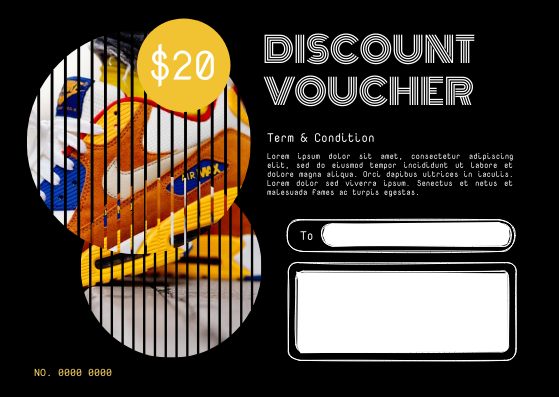 Gift Card template: Running Shoes Message Gift Card (Created by InfoART's Gift Card maker)