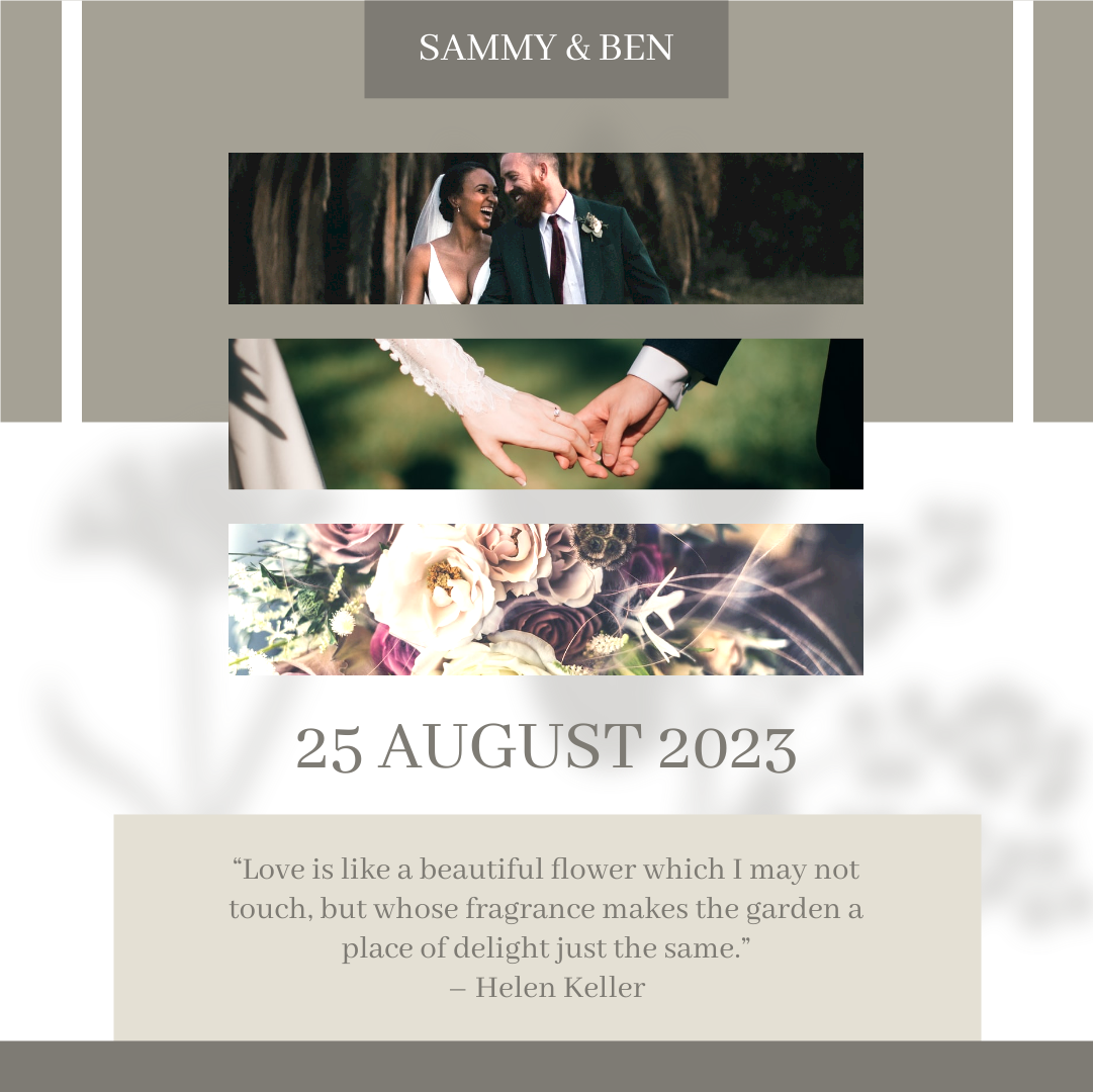 Instagram Post template: Classy Wedding Collage Instagram Post (Created by Collage's Instagram Post maker)