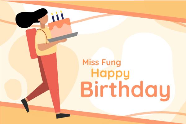 Greeting Card template: Happy Birthday Teacher Greeting Card (Created by InfoART's Greeting Card maker)