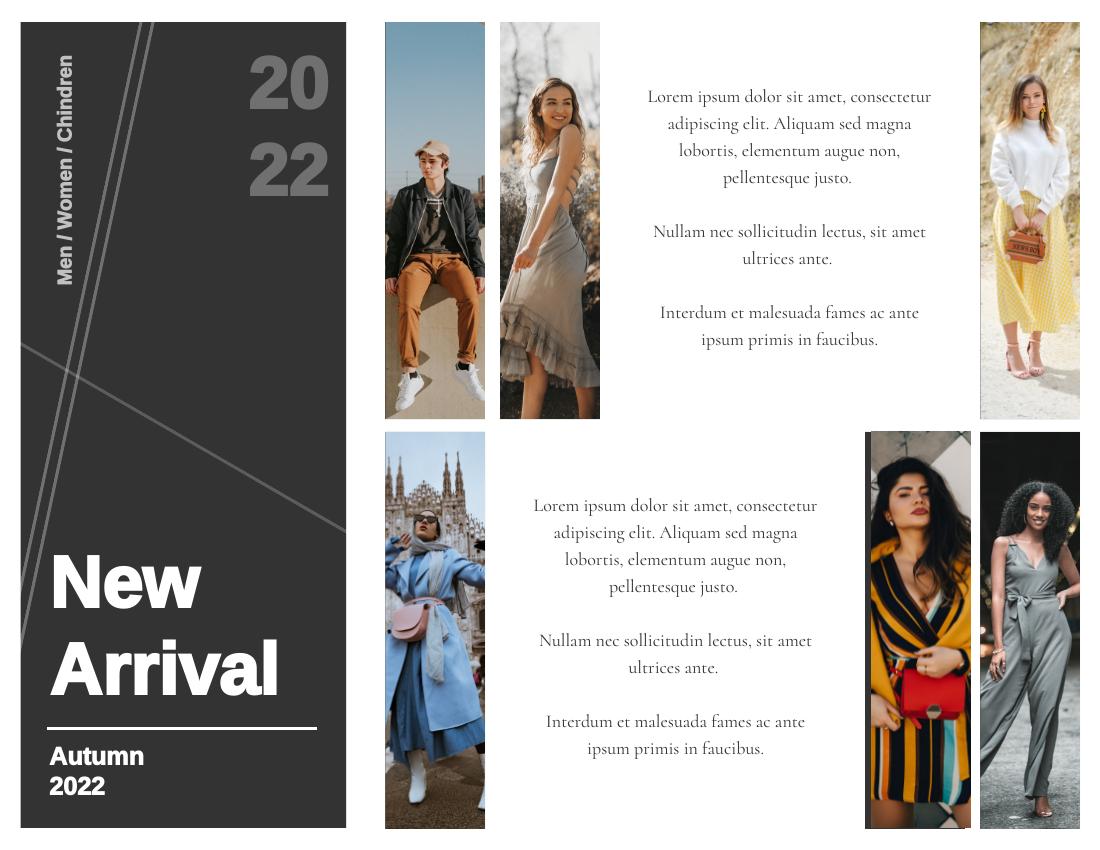 Brochure template: New Arrivals Brochure (Created by InfoART's Brochure maker)