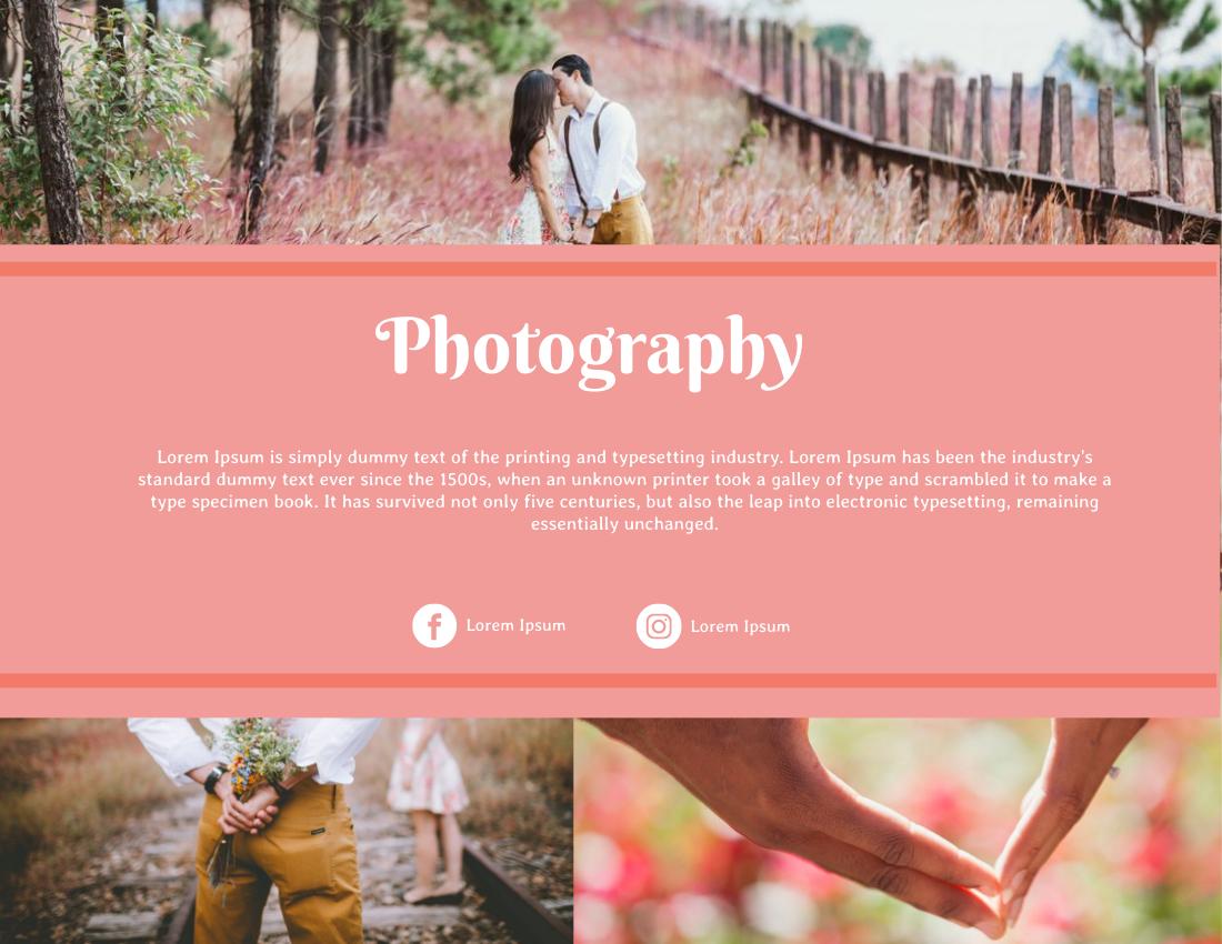 Brochure template: Love Story Photography Brochure (Created by InfoART's Brochure maker)
