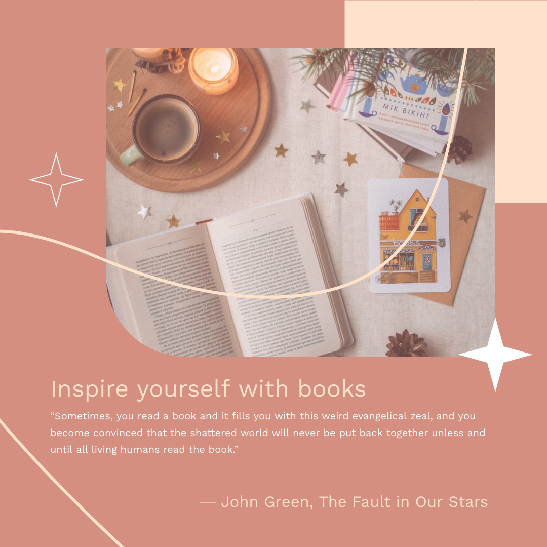 Instagram Post template: Inspire With Books Instagram Post (Created by InfoART's Instagram Post maker)