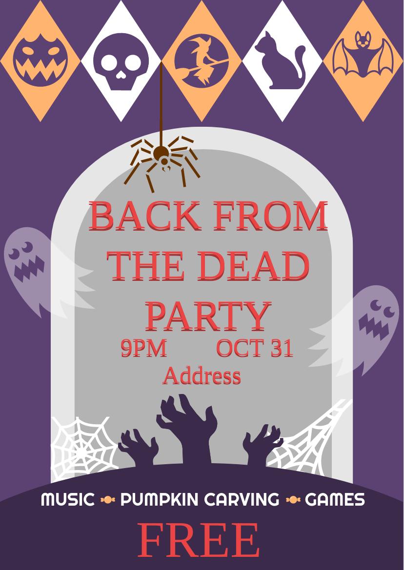 Flyer template: Halloween Party Flyer (Created by InfoART's Flyer maker)