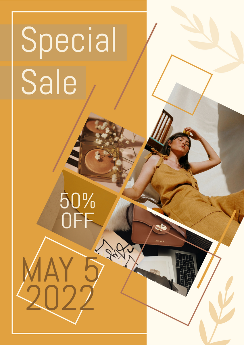 Poster template: Fashion Special Sale Poster (Created by Collage's Poster maker)