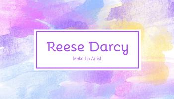 Business Card template: Purple Watercolor Makeup Artist Business Card (Created by InfoART's Business Card maker)