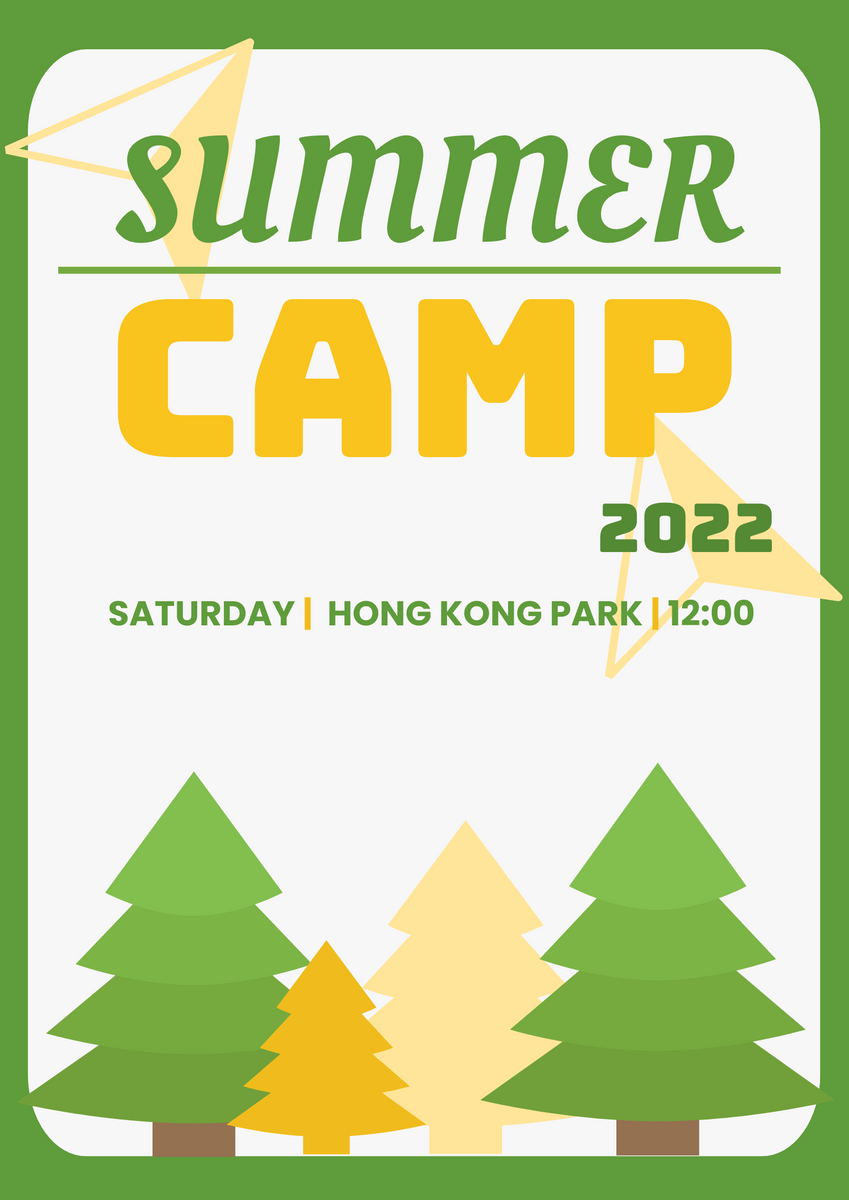 Poster template: Summer Camp Graphic Poster (Created by InfoART's Poster maker)