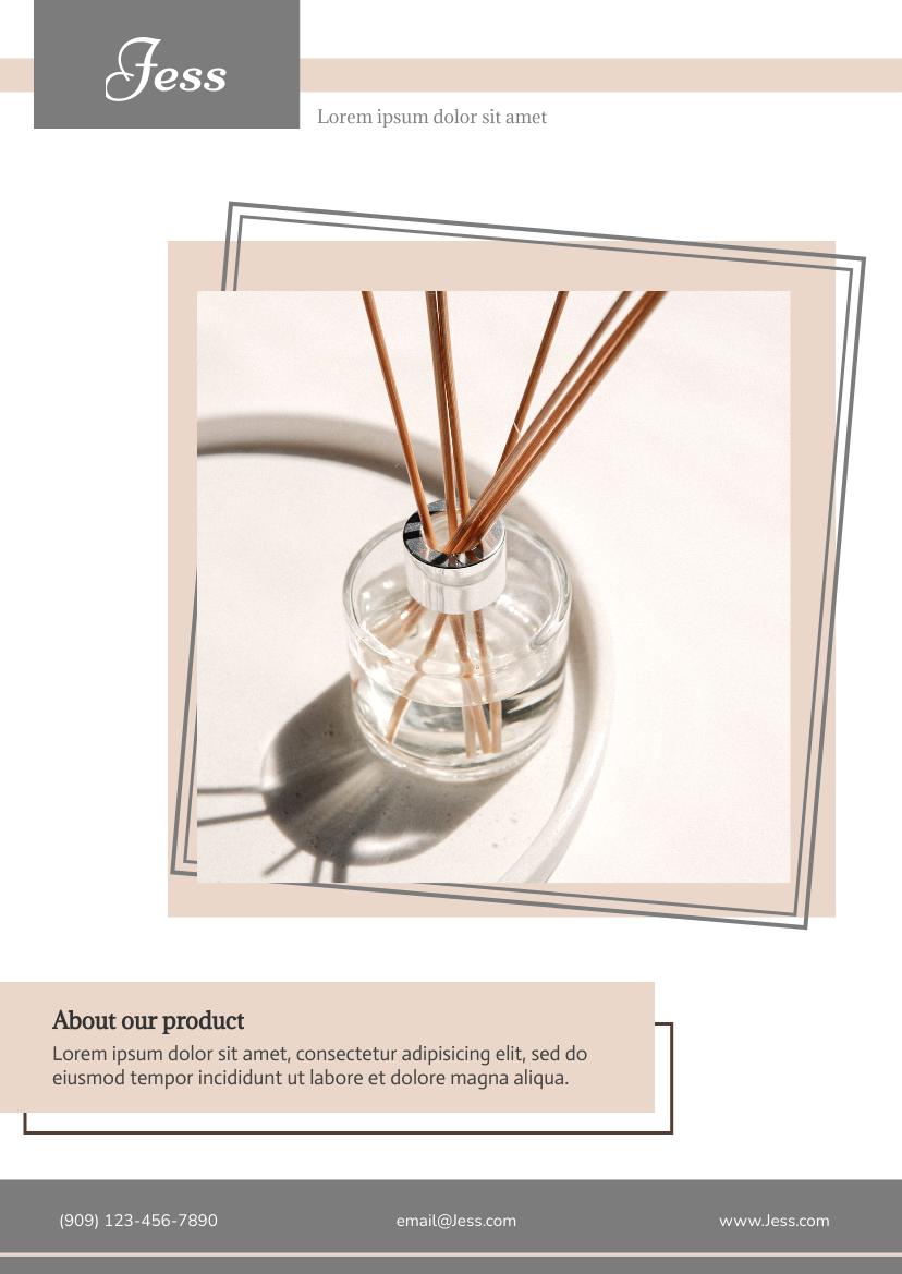 Flyer template: Perfume Product Flyer (Created by InfoART's Flyer maker)