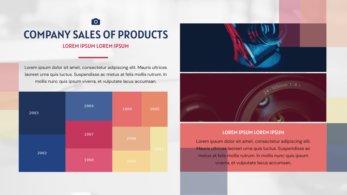 Treemap template: Company Sales Of Products Treemap (Created by Chart's Treemap maker)