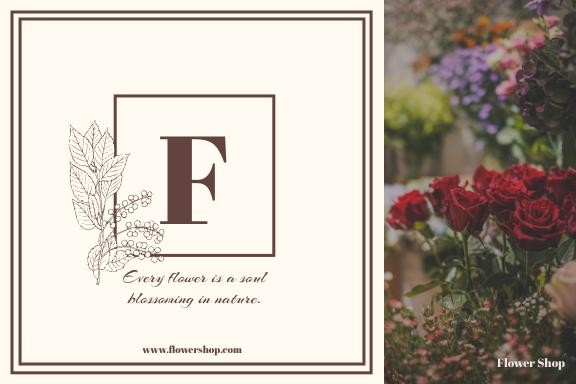 Label template: Flower Shop Label (Created by InfoART's Label maker)