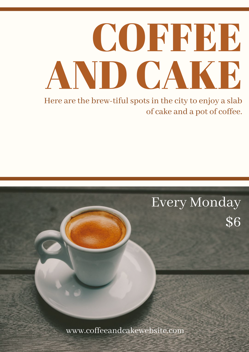 Coffee and cake poster