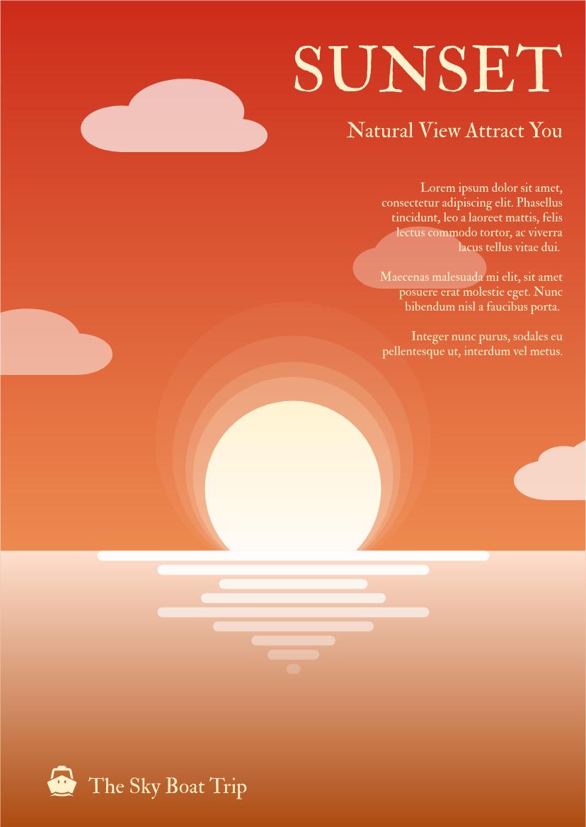 Flyer template: Sunset Graphic Flyer (Created by InfoART's Flyer maker)