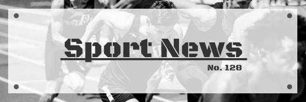 Email Header template: Monochrome Sport News Email Header (Created by InfoART's Email Header maker)