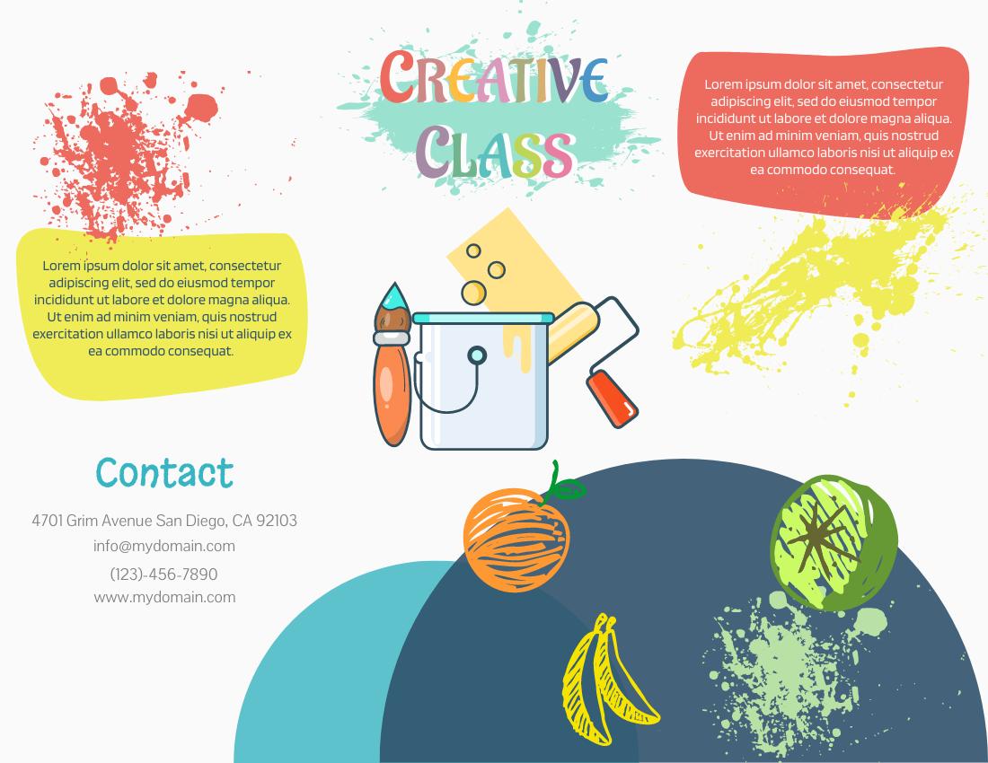 Brochure template: Creative Class (Created by InfoART's Brochure marker)