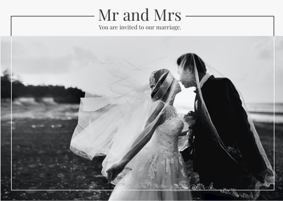 Post Card template: Mr And Mrs Post Card (Created by InfoART's Post Card marker)
