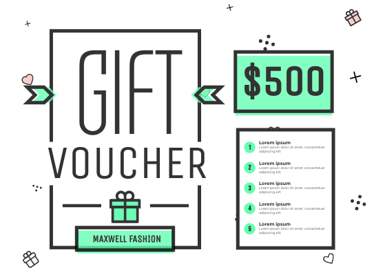 Gift Card template: Fashion Discount Gift Card (Created by InfoART's Gift Card maker)