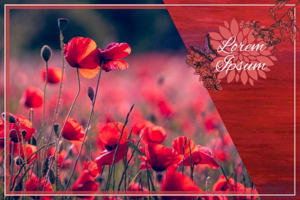 Greeting Card template: Elegant Flower Illustration Greeting Card (Created by InfoART's Greeting Card maker)