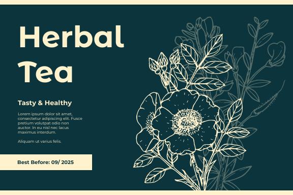 Label template: Herbal Tea Label (Created by InfoART's Label maker)