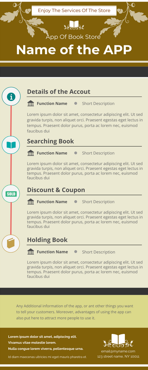 Infographic template: Book Store App Infographic (Created by InfoART's Infographic maker)