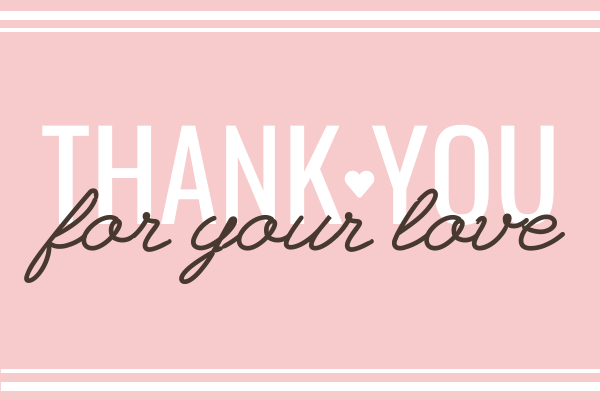 Greeting Card template: Thankyou Card 3 (Created by InfoART's Greeting Card maker)