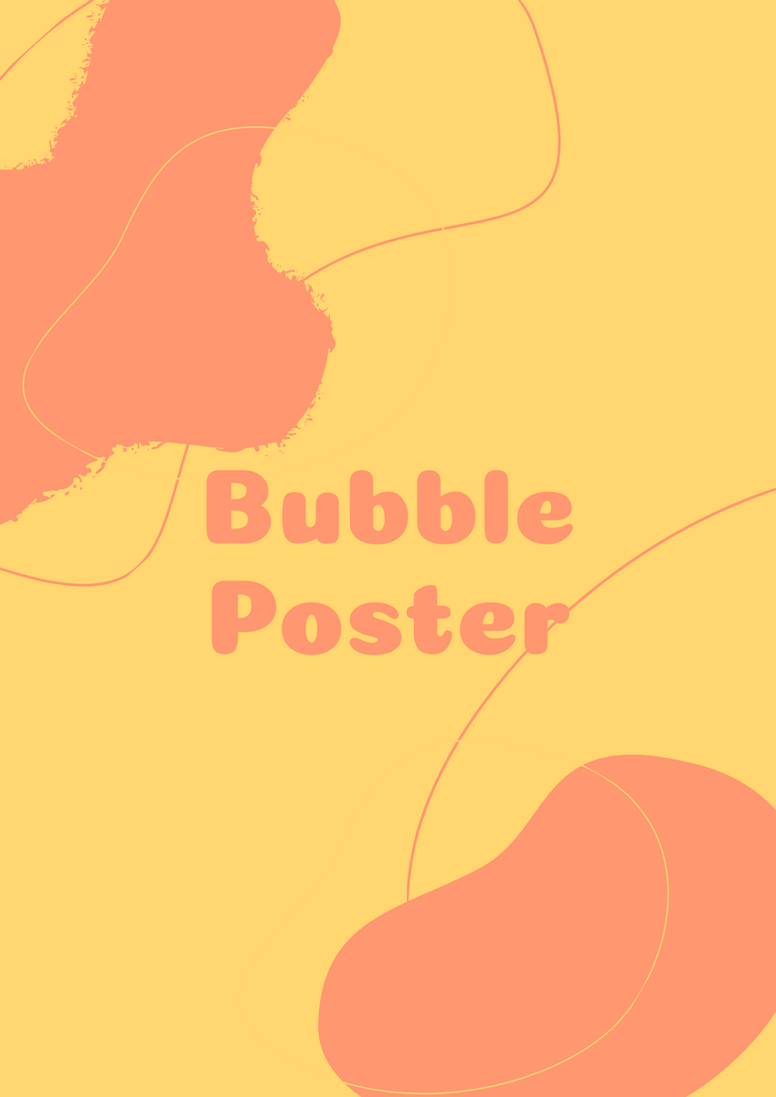 Poster template: Bubble Pattern Poster (Created by InfoART's Poster maker)