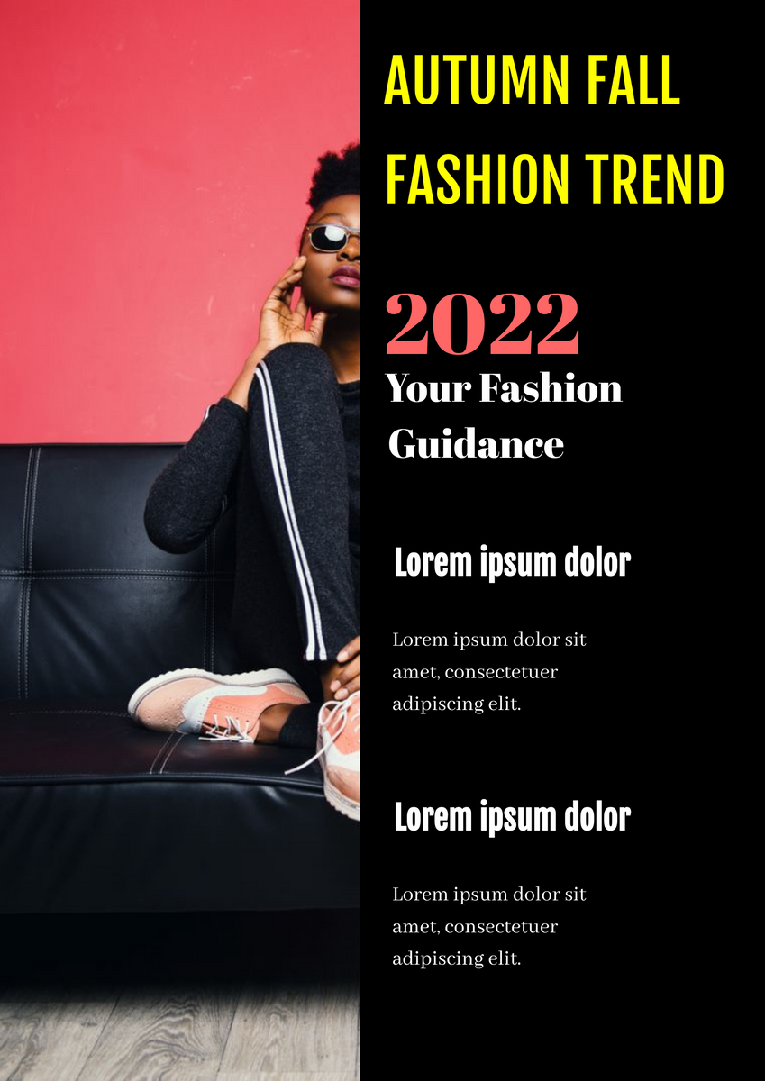 Poster template: Fashion Trend Poster (Created by InfoART's Poster maker)
