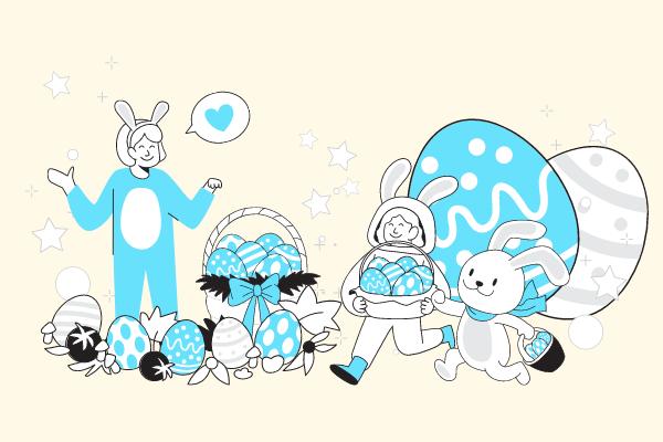 Festival Illustration template: Happy Easter Illustration (Created by Scenarios's Festival Illustration maker)