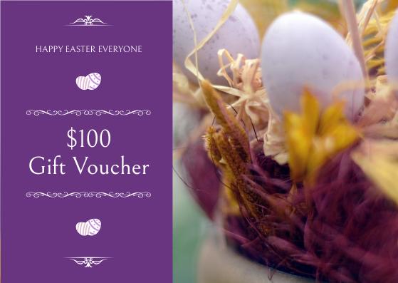 Gift Card template: Purple Elegant Easter Egg Photo Gift Card (Created by InfoART's Gift Card maker)