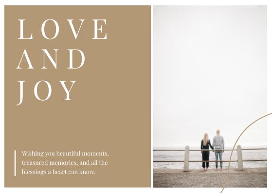 Postcard template: Love And Joy Postcard (Created by InfoART's Postcard maker)