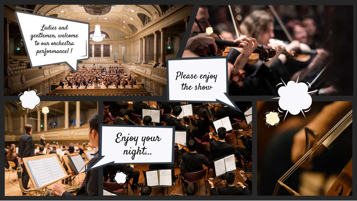 Comic Strip template: Orchestra Performance Comic Strip (Created by Collage's Comic Strip maker)