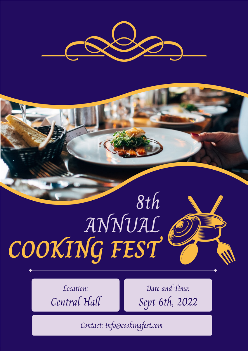 Poster template: Cooking Fest (Created by InfoART's Poster marker)