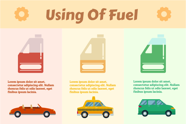 Transport template: USing Of Fuel (Created by InfoChart's Transport maker)