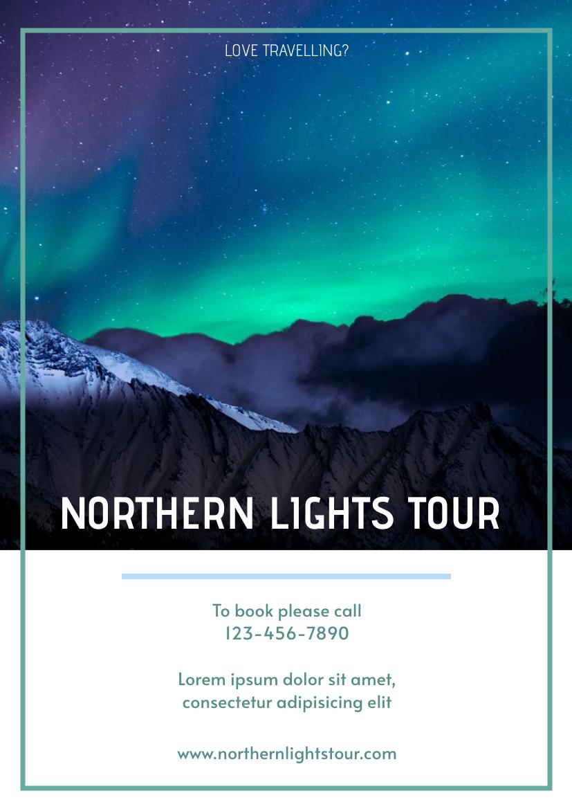 Flyer template: Northern Lights Flyer (Created by InfoART's Flyer maker)