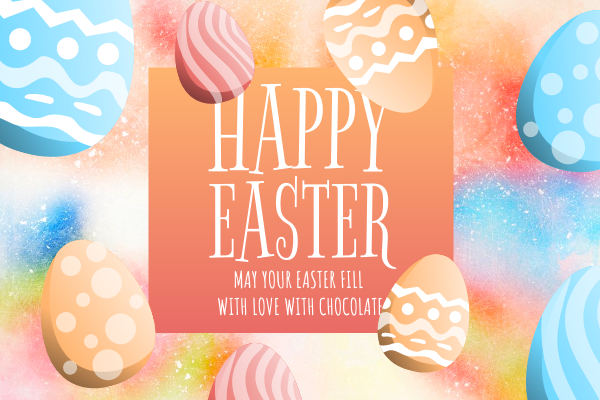 Greeting Card template: Happy Easter Greeting Card 2 (Created by InfoART's Greeting Card maker)