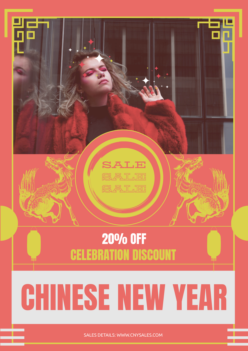 Poster template: Chinese New Year Sales Poster (Created by InfoART's Poster maker)