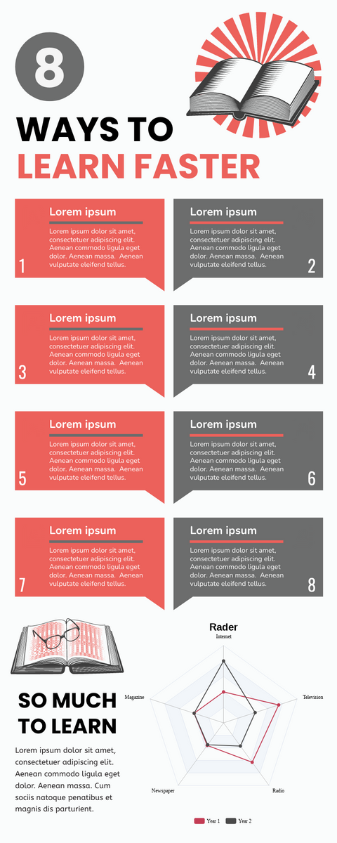 Infographic template: Ways To Learn Faster Infographic (Created by InfoART's Infographic maker)