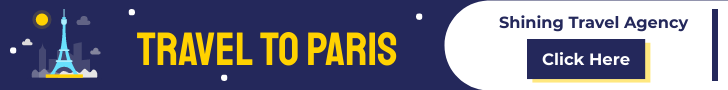 Banner Ad template: Paris Travel Agency Banner Ad (Created by InfoART's Banner Ad maker)