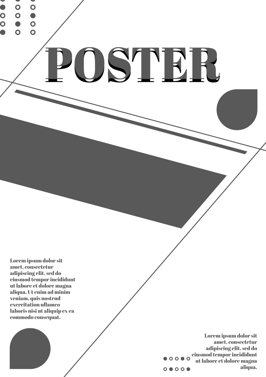 Poster template: Grey White Poster (Created by InfoART's Poster maker)