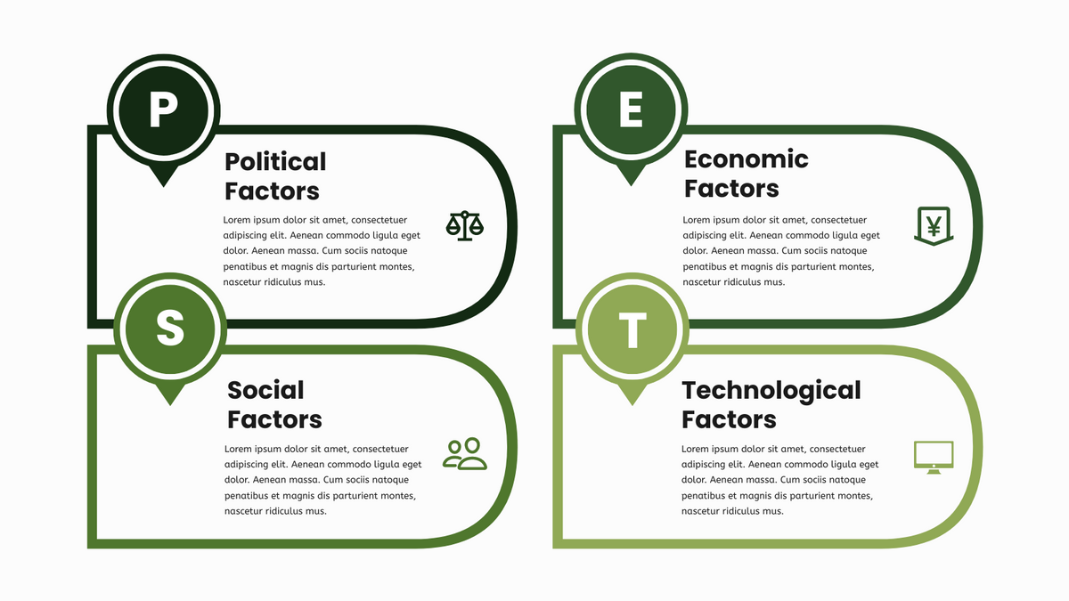 PEST Analysis template: PEST Model Infographic (Created by InfoART's PEST Analysis maker)