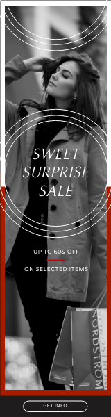Wide Skyscraper Banner template: Red And Black Shopping Sale Wide Skyscraper Banner (Created by InfoART's Wide Skyscraper Banner maker)