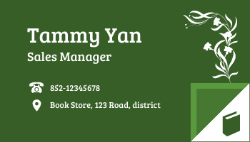 Business Card template: Book Store Business Cards (Created by InfoART's Business Card maker)