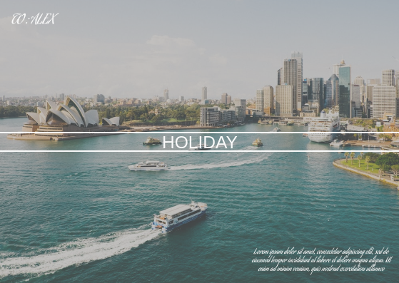 Post Card template: Sydney Holiday Card (Created by InfoART's Post Card marker)