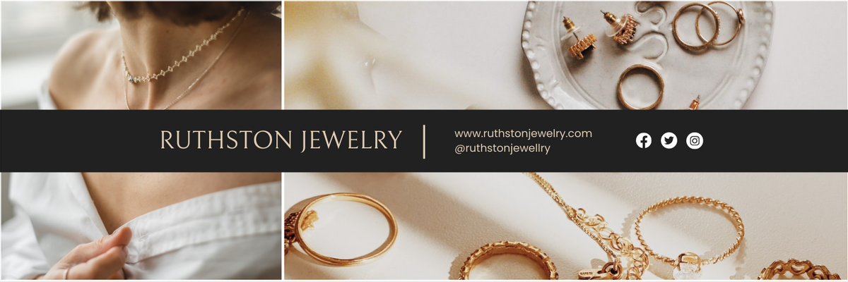 Twitter Header template: Jewelry Business Twitter Header (Created by InfoART's Twitter Header maker)