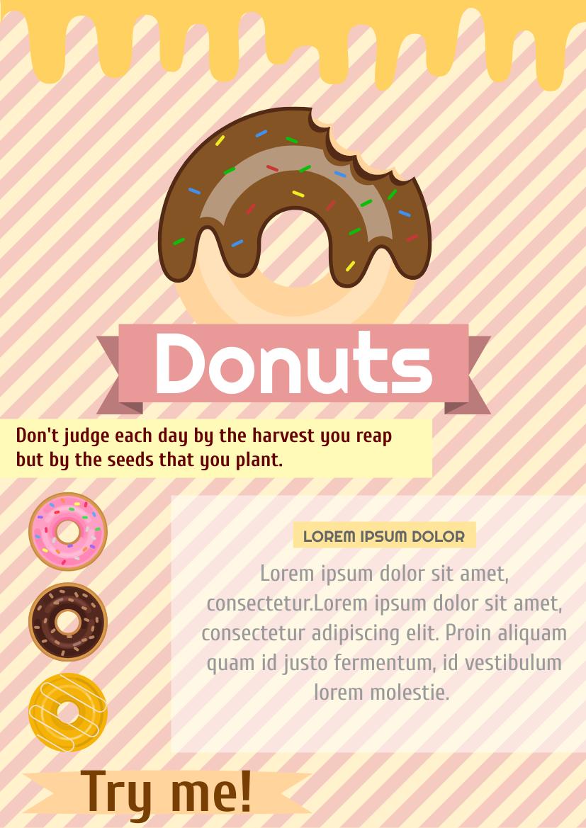 Flyer template: Donuts Flyer (Created by InfoART's Flyer maker)