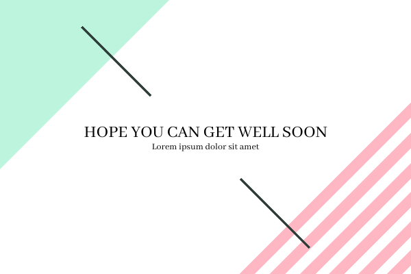 Greeting Card template: Get Well Soon Card (Created by InfoART's Greeting Card maker)